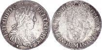 France 1/2 Ecu Louis XIIII a la mèche longue - 1649 M Toulouse