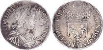 France 1/2 Ecu Louis XIIII a la mèche longue - 1654 A paris