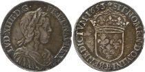 France 1/2 Ecu Louis XIV à la mèche longue - 1653 B