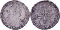 France 1/2 Ecu Louis XIV aux 8 L - Réformation 1704 D - Lyon