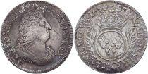 France 1/2 Ecu Louis XIV aux Palmes -1694 A Paris Argent