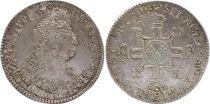 France 1/2 Ecu Louis XIV with 8 L - 1704 B - Silver - VF +