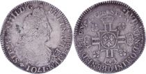 France 1/2 Ecu Louis XIV with double crowned L in cruciform - 1704 D - Lyon