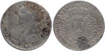 France 1/2 Ecu Louis XV - Arms of France with sprays - 1729 X Amiens - F