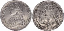 France 1/2 Ecu Louis XVI aux branches d\'olivier - 1791 .A
