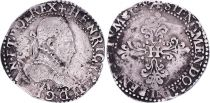 France 1/2 Franc  Henri III Col Fraisé - Argent - 1578 A