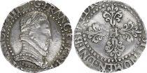 France 1/2 Franc Henri III Col Plat - Argent