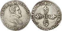 France 1/2 Franc Henri IV - 1602 A Paris Argent