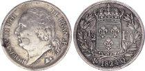 France 1/2 Franc Louis XVIII - 1824 Q Perpignan