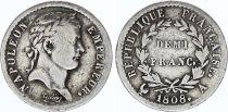 France 1/2 Franc Napoléon I - 1808 A Paris - Silver