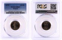 France 1/2 Francs Semeuse  - 1973 - PCGS MS 67