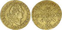 France 1/2 Louis d\'or, Louis XIV (1643-1715) 4 L - C Caen - 1695 - Gold