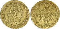 France 1/2 Louis d\'or, Louis XIV (1643-1715) aux 4 L - C Caen - 1695