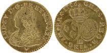 France 1/2 Louis d\'or, Louis XV aux lunettes - 1826 BB Strasbourg