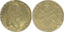 France 1/2 Louis dor, Louis XIV (1643-1715) aux 4 L - 1696 A Paris