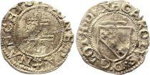 France 1/2 Sol Carolus, Charles III (1555-1608) - Nancy - 8ème ex