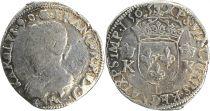 France 1/2 Teston, Charles IX - Armoiries 1565 L Bayonne