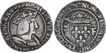 France 1/2 Teston François I (1515-1547) - Argent - Lyon