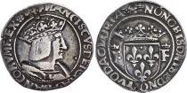 France 1/2 Teston François I (1515-1547) - Silver - Lyon