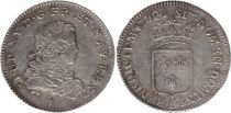 France 1/3 Ecu Louis XV - Armoiries 1721 B Rouen