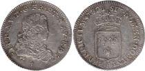 France 1/3 Ecu Louis XV - Armoiries 1721 B Rouen