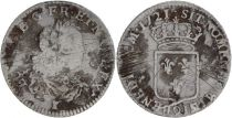 France 1/3 Ecu Louis XV - Armoiries 1721 Q Perpignan