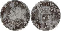 France 1/3 Ecu Louis XV - Armoiries 1721 Q Perpignan