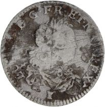 France 1/3 Ecu Louis XV - Arms 1721 Q Perpignan