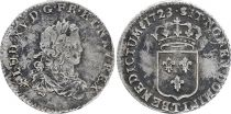 France 1/3 Ecu Louis XV - Arms 1723 T Nantes Silver