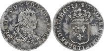 France 1/3 Ecu Louis XV - Arms 1723 T Nantes Silver