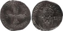 France 1/4 Ecu, Henri III - 1579 Nantes - F to VF - Silver