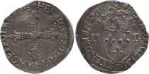 France 1/4 Ecu, Henri III - 1580 Nantes - F - Silver