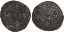 France 1/4 Ecu, Henri III - 1581 Nantes - F to VF - Silver