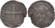 France 1/4 Ecu, Henri III - 1584 Nantes - TB - Argent