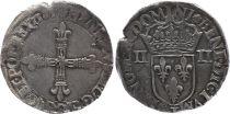 France 1/4 Ecu, Henri III - 1585 Nantes - TB - Argent