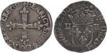 France 1/4 Ecu, Henri III - 1588 Nantes - F to VF - Silver