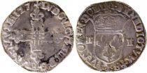France 1/4 Ecu au marteau Louis XIII - 1627 L Bayonne