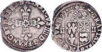 France 1/4 Ecu de Bearn - Henri IV - 1599