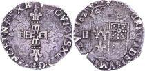 France 1/4 Ecu de Bearn - Louis XIII - 1626