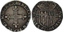 France 1/4 Ecu de Navarre - Henri IV -  1606