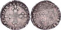 France 1/4 Ecu de Navarre - Henri IV - 1601 M St palais