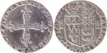 France 1/4 Ecu du Béarn - Henri IV 1602 - Morlas Argent