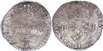 France 1/4 Ecu Henri III -  Silver - 1580 H La Rochelle