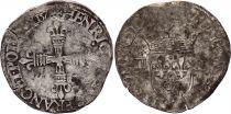 France 1/4 Ecu Henri III - 1578  T Nantes - Argent