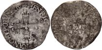France 1/4 Ecu Henri III - 1578  T Nantes - Silver