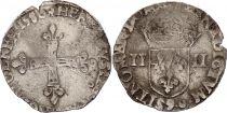 France 1/4 Ecu Henri III - 1580 - Argent - Rennes (9)