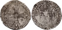 France 1/4 Ecu Henri III - 1581 - Nantes