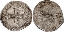 France 1/4 Ecu Henri III - 1586 T Nantes - Silver