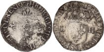 France 1/4 Ecu Henri III - 1587 - Rennes (9) - Silver