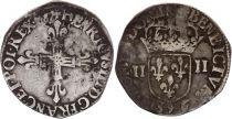 France 1/4 Ecu Henri III - 1587 - Rennes (9)